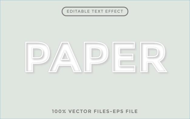 Бумага редактируемый текстовый эффект векторные иллюстрации