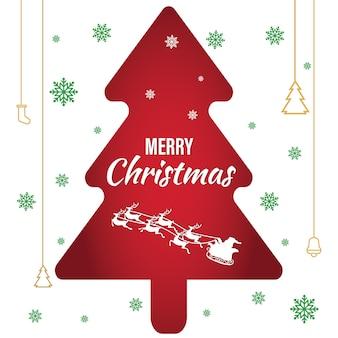 종이 효과 크리스마스 트리 포스터