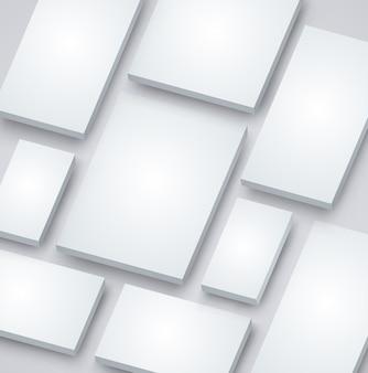 インフォグラフィックの紙の要素