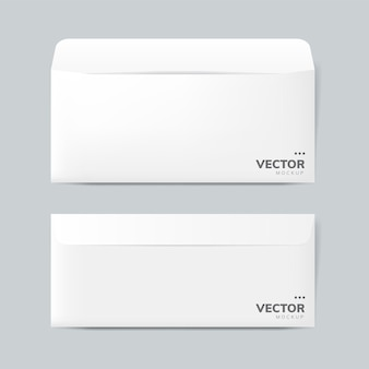 Paper envelope design mockup vector