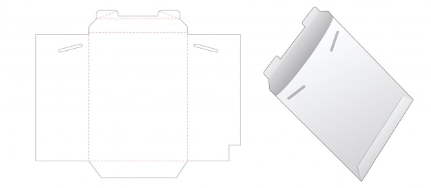 Paper envelope die cut template
