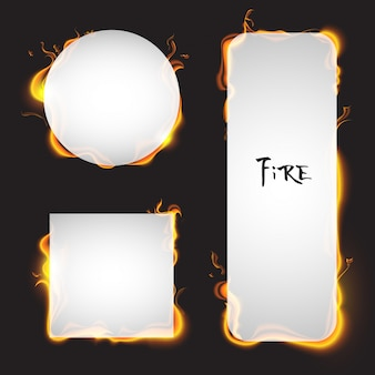 Paper on fire vector