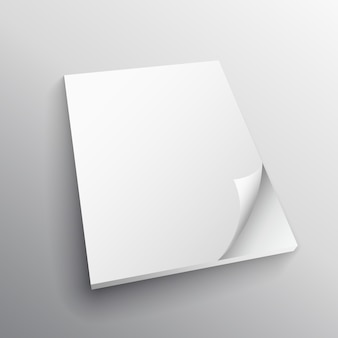 Paper fold vector mockup design