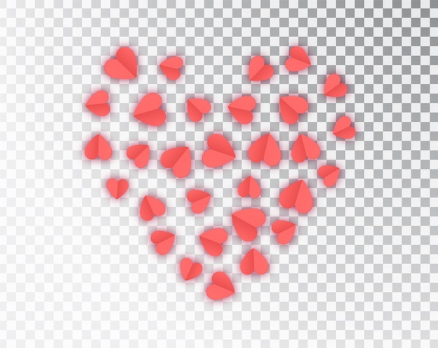 Бумажные сердца изолированные