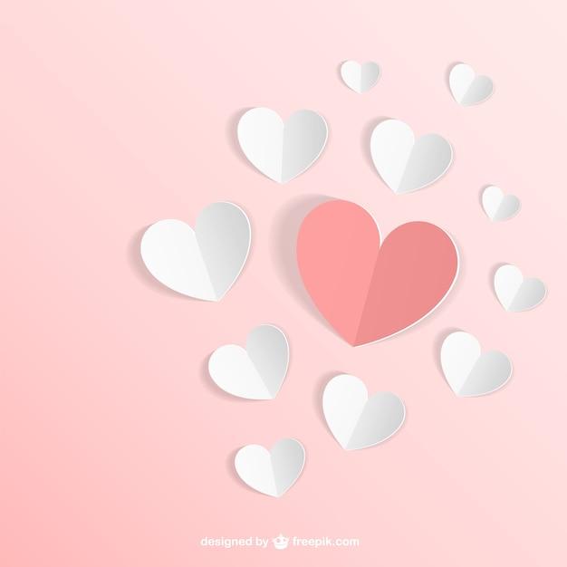 Бумажные сердца вектор