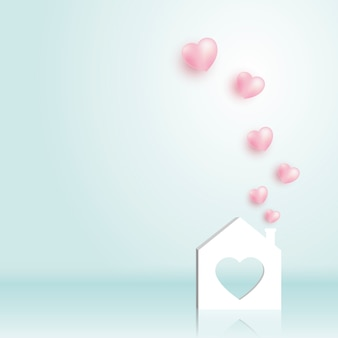 Paper home with heart