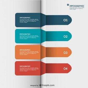 Paper label arrows infographic