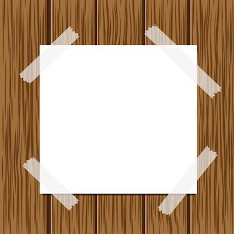 木製の質感の紙のメッセージ