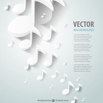 Paper music notes background