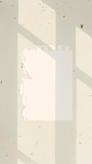 Paper note background wallpaper vector on aesthetic leaf shadow