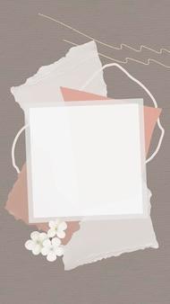 Vettore di carta da parati sfondo nota di carta su carta strappata