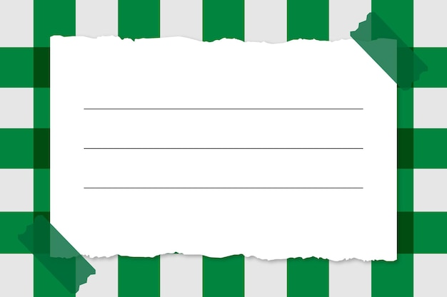 Paper note on plaid background