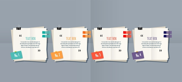 Paper note text box templates