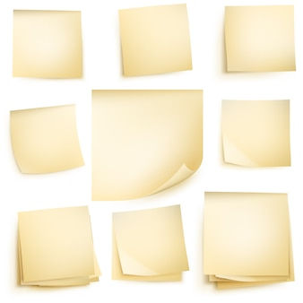 Paper notes isolated.