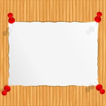 Бумага на деревянном фоне