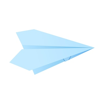 Paper origami shape - airplane. the japanese art of folding paper figures is a hobby, needlework.