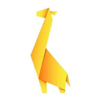 Бумажное оригами в форме жирафа. японское искусство складывать фигурки из бумаги - это хобби.