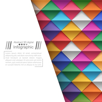 Бумажный фон в стиле оригами
