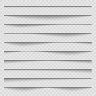 Эффект тени наложения бумаги