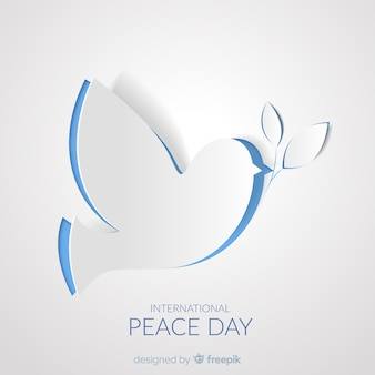 Paper peace day with dove