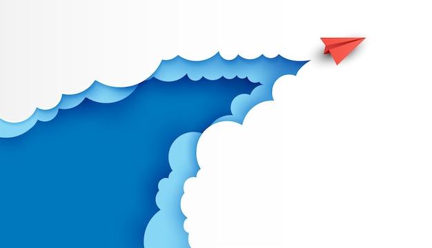 紙飛行機は雲と空までの目的地への競争であり、成功目標の財政に行きます