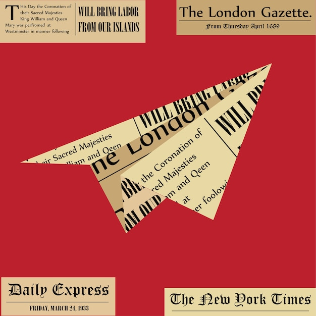 Paper plane from newspaper