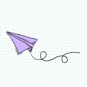 Бумажный самолетик Бесплатные векторы