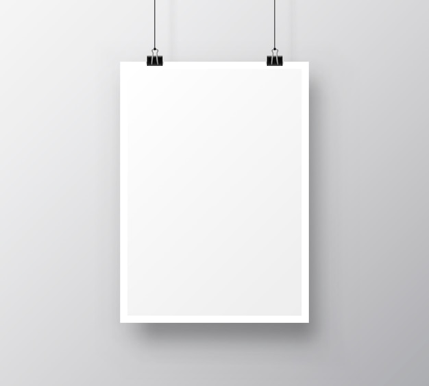 Paper poster a4 on the grey background. vector illustration