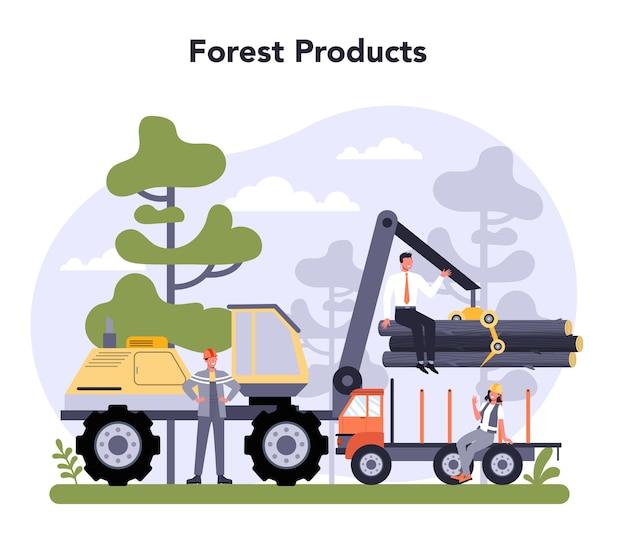 Концепция производства бумаги и деревообрабатывающей промышленности