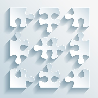 Puzzle di carta illustrazione vettoriale