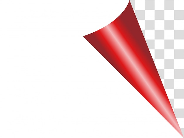 Paper red ribbon background.