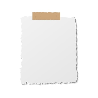 Paper reminder post note. notice sheet template on stick tape. postit annotation blank.
