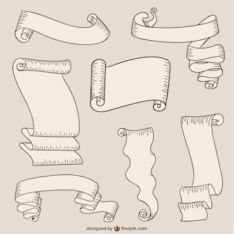 Paper ribbons and scrolls
