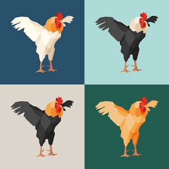 Paper roosters