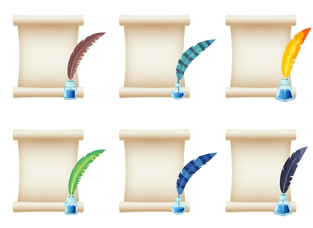 Paper scroll design illustration isolated on white background