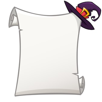 Paper scroll for halloween invitation or poster