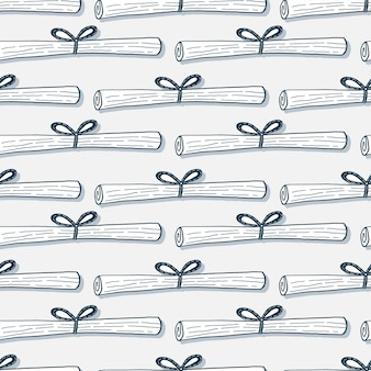 Paper scroll seamless pattern
