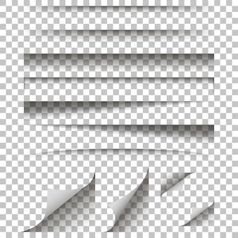 Paper shadow effect on a isolated background