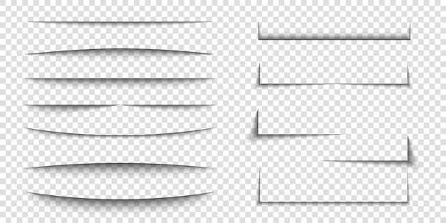 Paper sheet shadow effect d line edge shape