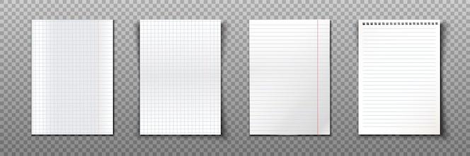 Raccolta di fogli di carta in formato a4.