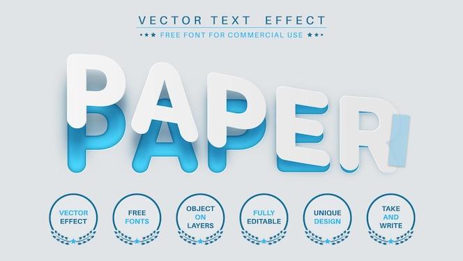 紙のスライス編集テキスト効果編集可能なフォントスタイル