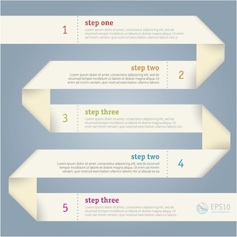 Paper strip infographics  template.