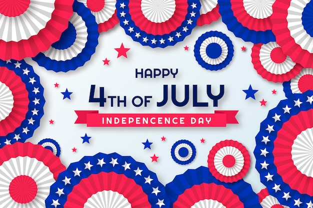 Paper style 4th of july - independence day illustration
