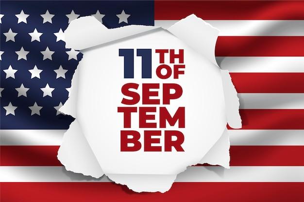 Sfondo del giorno del patriota in stile carta 9.11