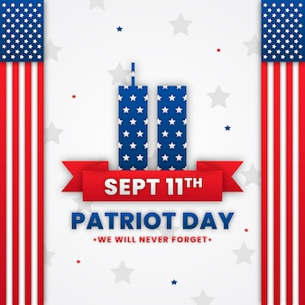 紙のスタイル9.11愛国者の日のイラスト
