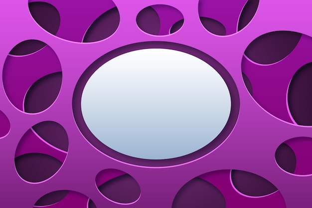 Paper style abstract oval shape background