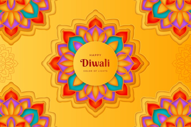 Paper style diwali traditional event