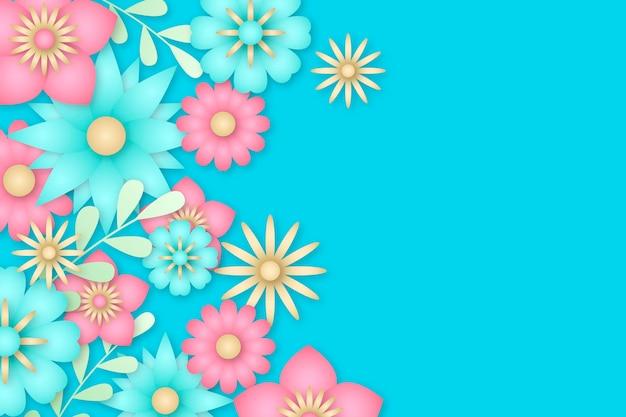 종이 스타일 꽃 배경