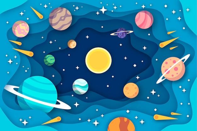 Sfondo galassia stile carta