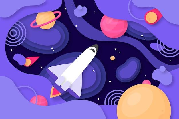紙のスタイルの銀河の背景
